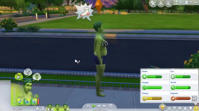 My Sim was too DUMB to realize he was drowning D: